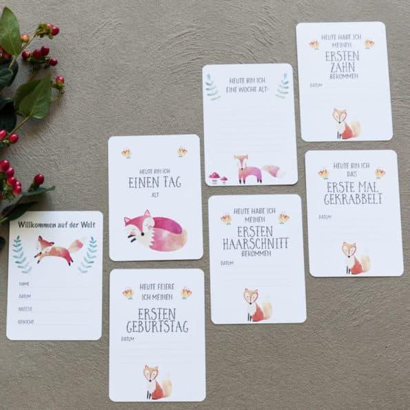 Baby-Meilensteinkarten